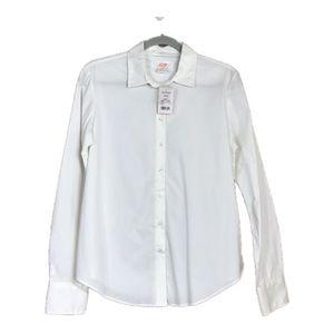 NEW Joe Fresh White Front Button Blouse Size M